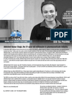 Abhishek Kumar Singh, The 21-Year-old Millionaire Taj Pharmaceuticals Ltd