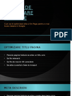 Tehnici de Optimizare SEO on Page - Star Marketing