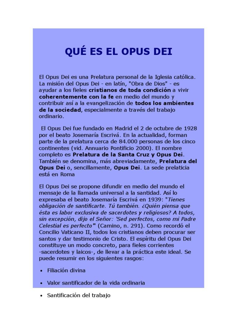 QUÉ ES EL OPUS DEI.docx | obispo | Clero