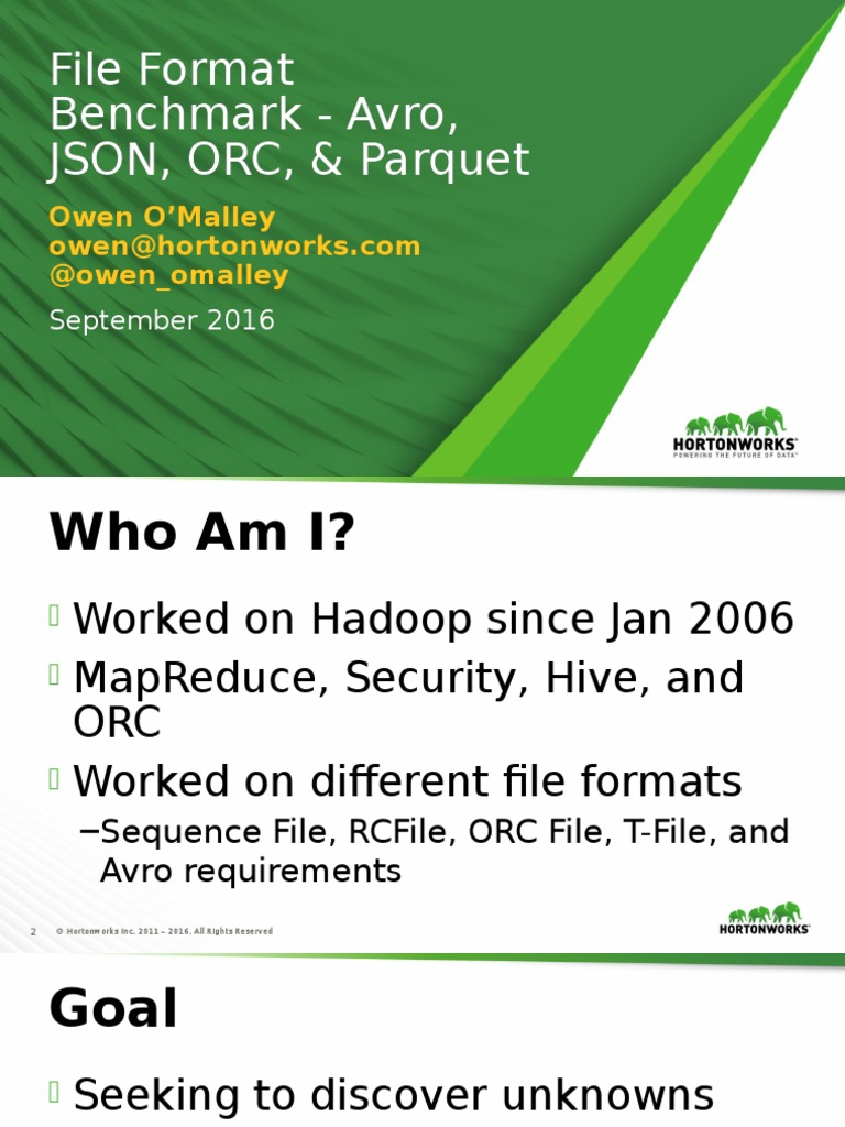 File Format Benchmark_ Avro, JSON, OrC, And Parquet
