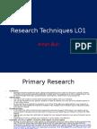 Research Techniques Pro-Forma