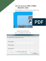 Activación de Licencia EMH COMBI MASTER 2000