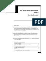 EMC Secure Remote Services (ESRS) Release 3.12 Pre Site Checklist