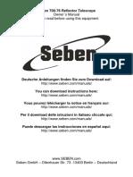 Seben 700-76 Telescope Manual
