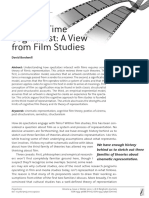 The Part Time Cognitivist a View From Film Studies