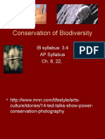 20. Conservation of Biodiversity