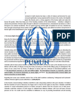 PUMUN Sample Paper