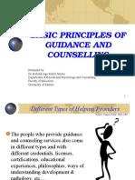 Basic Principles of Guidancecounseling