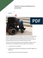 Barreras a La Participación Comunes Enfrentadas Por Las Personas Con Discapacidades