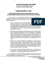 COMUNICADO PNP N° 02 - 2017