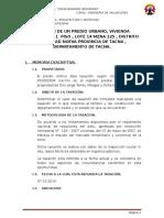 Informe de Valuacion 2015
