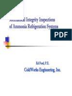 Ammonia Mechanical Integrity