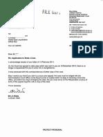 Letter 20 February 2014