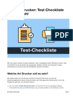 Mobiler Drucker Test Checkliste
