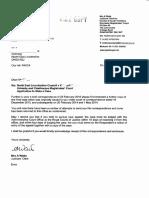 Letter 15 April 2016