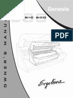 Ergoline Classic E 600 Genesis Owners Manual