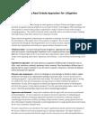 Tips in Litigation Appraisal