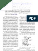 Nondestructive Evaluation of Microcracks by Laser-Induced Focused Ultrasound