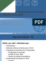 Java Web Aula13 ConexaoJSF BD CRUD Completo