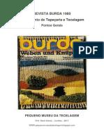 Suplemento Da Revista Burda 1980 Tecelagem Artesanal