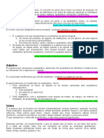 Classes de Palavras - Critérios Empregados Nas Gramáticas