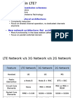 What is new in LTE