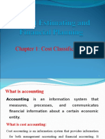 Ch 1 Cost Classification