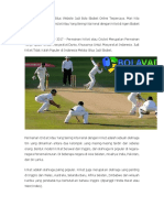 Olahraga Cricket Di Situs Website Judi Bola Sbobet