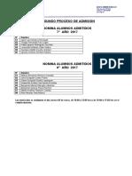 Nómina Alumnos Admitidos (Segundo Proceso 2017)