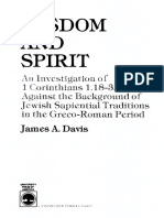 Davis, James a. -Wisdom and Spirit_ an Investigation of 1 Corinthians 1.18-3.20 Against the Background of Jewish Sapiential Traditions in the Greco-Roman Period (1984)