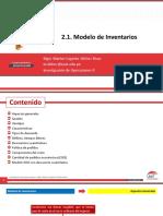 2.1. Modelo de Inventarios