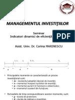 Formule Indicatori Dinamici