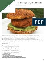 Hamburguesa Vegana Con El Mejor Pan Sin Gluten Del Mundo