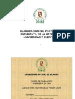 Ejemplo Portafolio Para El Estudiante