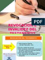 Revocacion e Invalidez