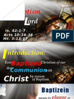 Jan 9 - Baptism of the Lord Homily