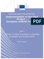 European Judicial Training Best Practices in Training 2014