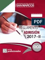 REGLAMENTO DE ADMISIÓN 2017-II