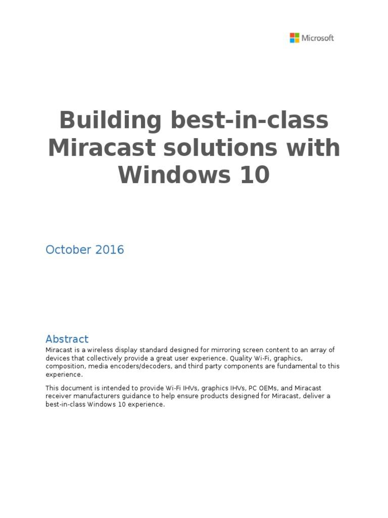 miracast receive windows 10