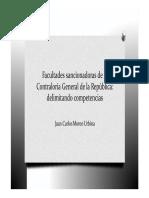 XIX Convención Dr. Morón Facultades Sancionadoras Contraloría