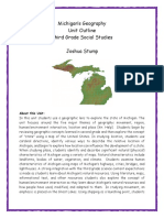 geography of michigan - third grade unit 1