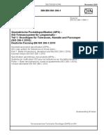 [DIN en ISO 286-1-2010-11] -- Geometrische Produktspezifikation (GPS) - IsO-Toleranzsystem Für Längenmaße - Teil 1- Grundlagen Für Toleranzen, Abmaße Und Passungen (ISO 286-1-2010)
