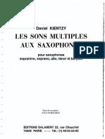 Saxophone Multiphonics KIENTZY