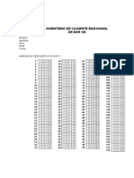 Inventario de Ce de Bar on Hoja de Respuesta