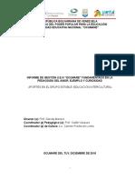 """Informe de Gestion Septiembre - Diciembre de 2016. U.E.N """"Ocumare"""" Lic Carmen Freites"""