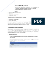 Parametrizaciones Medidas de Personal