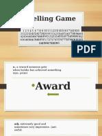 Spelling Game 3dr Bachillerato