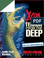 X-Com - Terror From the Deep - Manual - PC