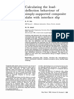 Calculating the Load Deflection Behaviour of Simply Supported Composite Slabs With Interface Slip 1993