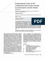 Experimental Study of the Compressive Force Path Concept in Prestressed Concrete Beams 1993